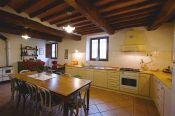 Ground floor kitchen at Villa Felceto in Tuscany