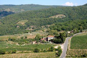 Chiantigiana highway to Panzano in Chianti