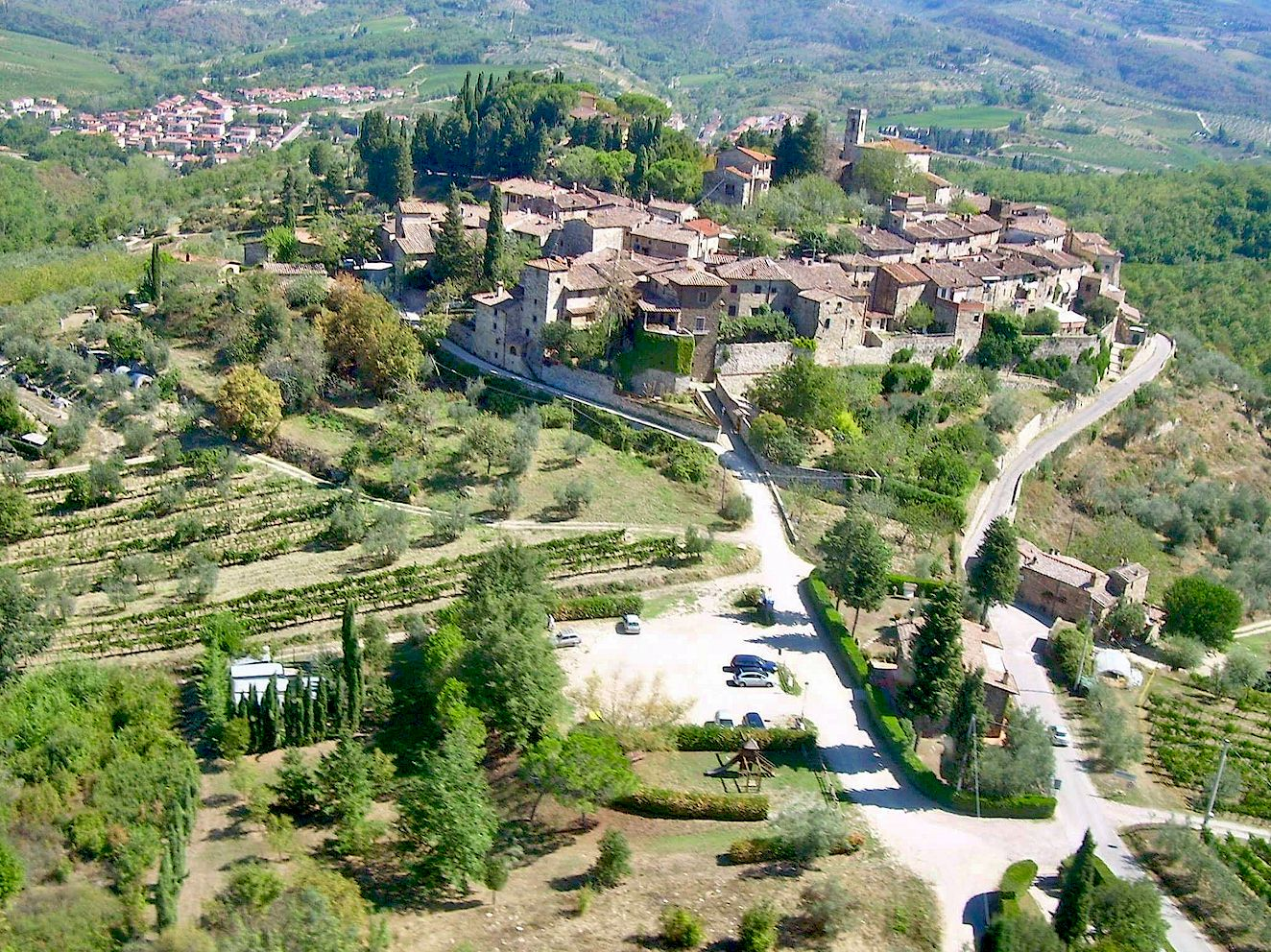 Montefioralle from above