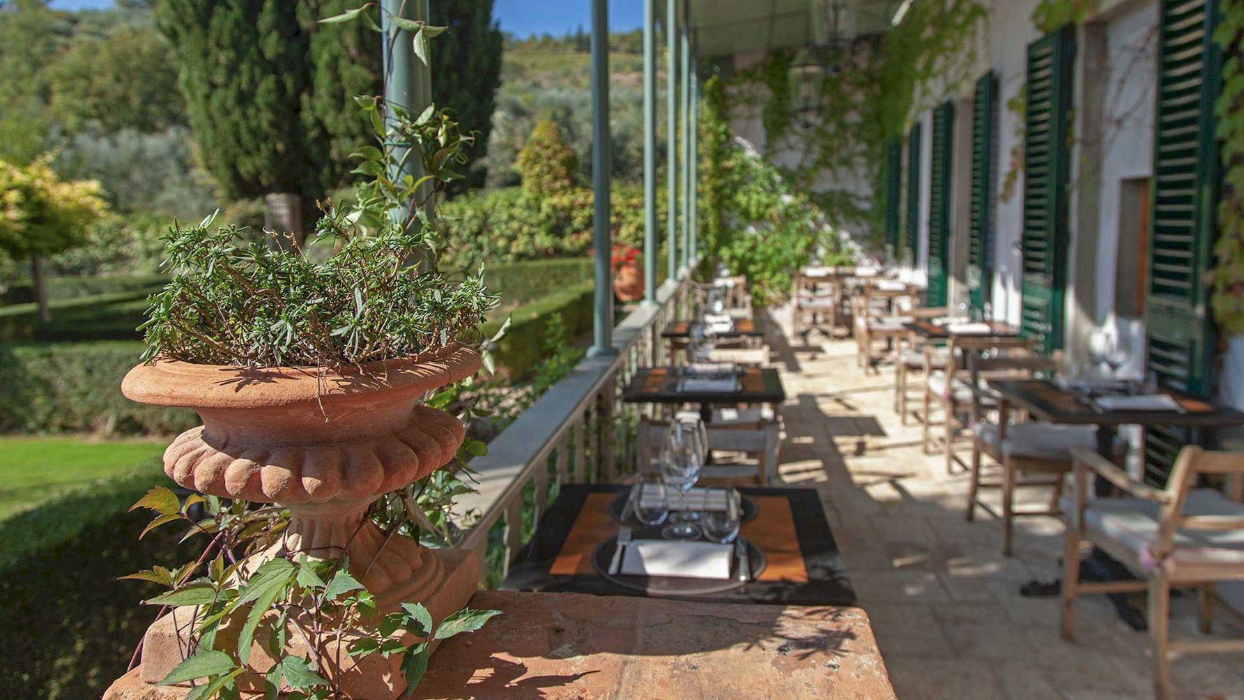 Villa Bordoni verandah by day
