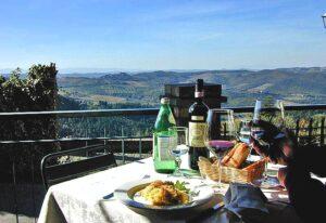 View from Lamole in Chianti