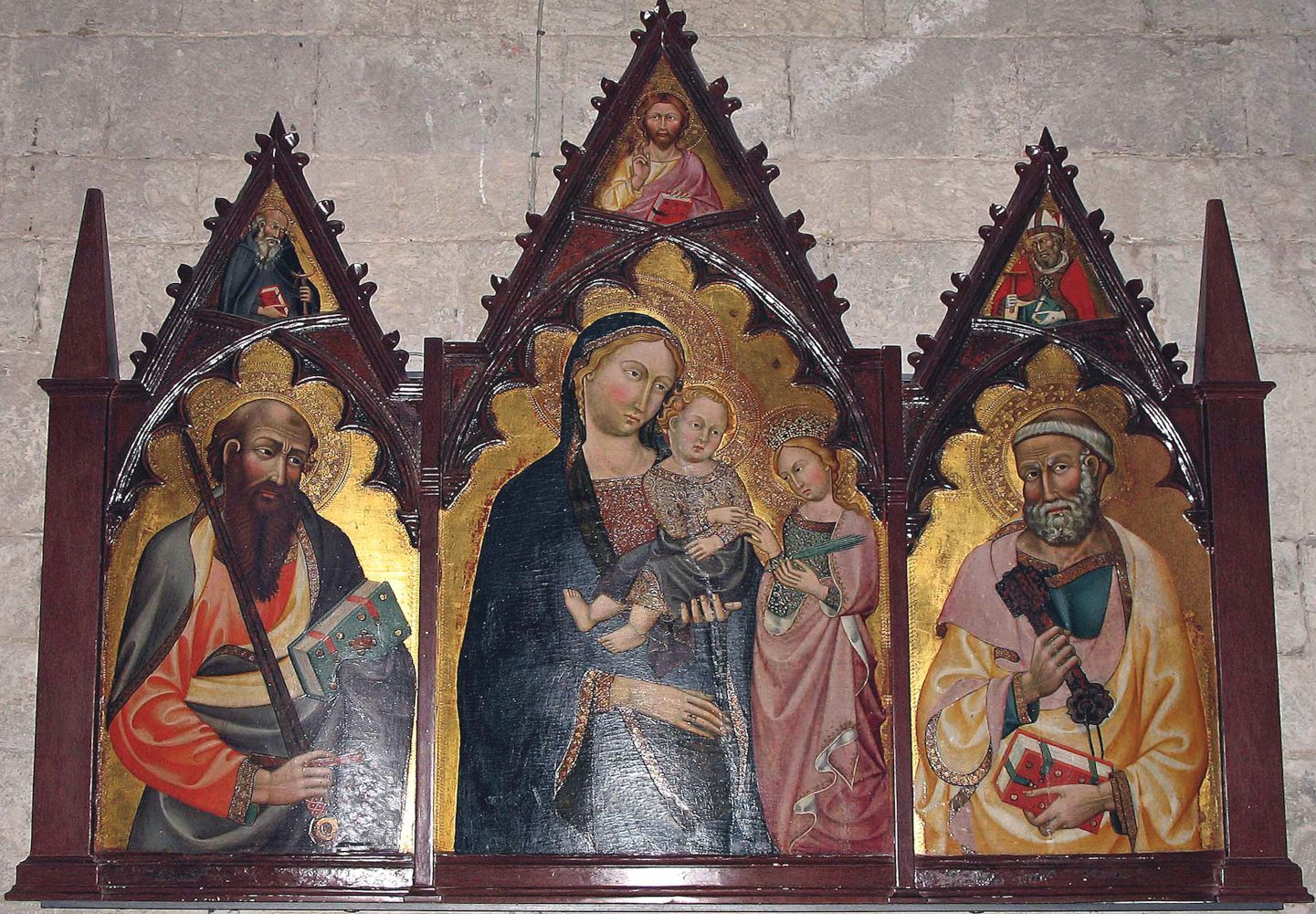 Triptych housed in the Pieve di San Leolino a Panzano